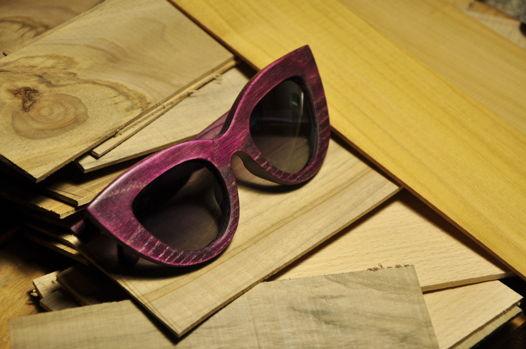 FOX деревянные солнцезащитные очки