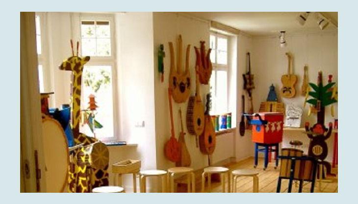 kindermuseum wuppertal raum mit musikinstrumenten ap