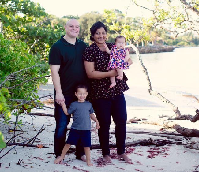 Photo of the Santos family
