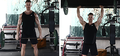 Barbell Upright Row-to-Press
