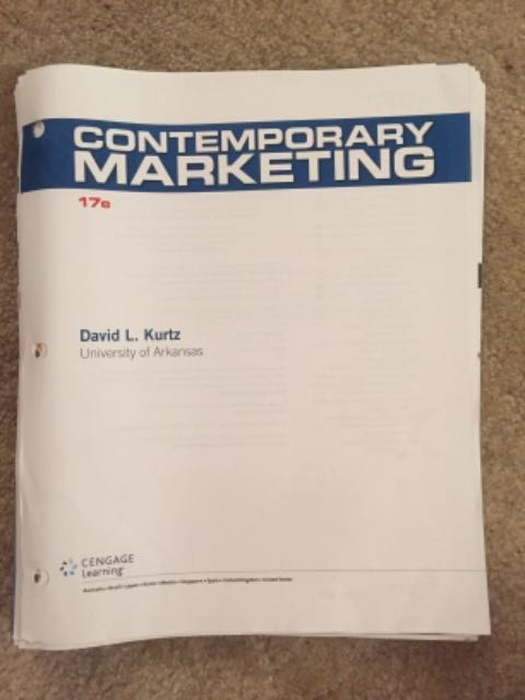 RENTERS BAY: Contemporary Marketing Textbook