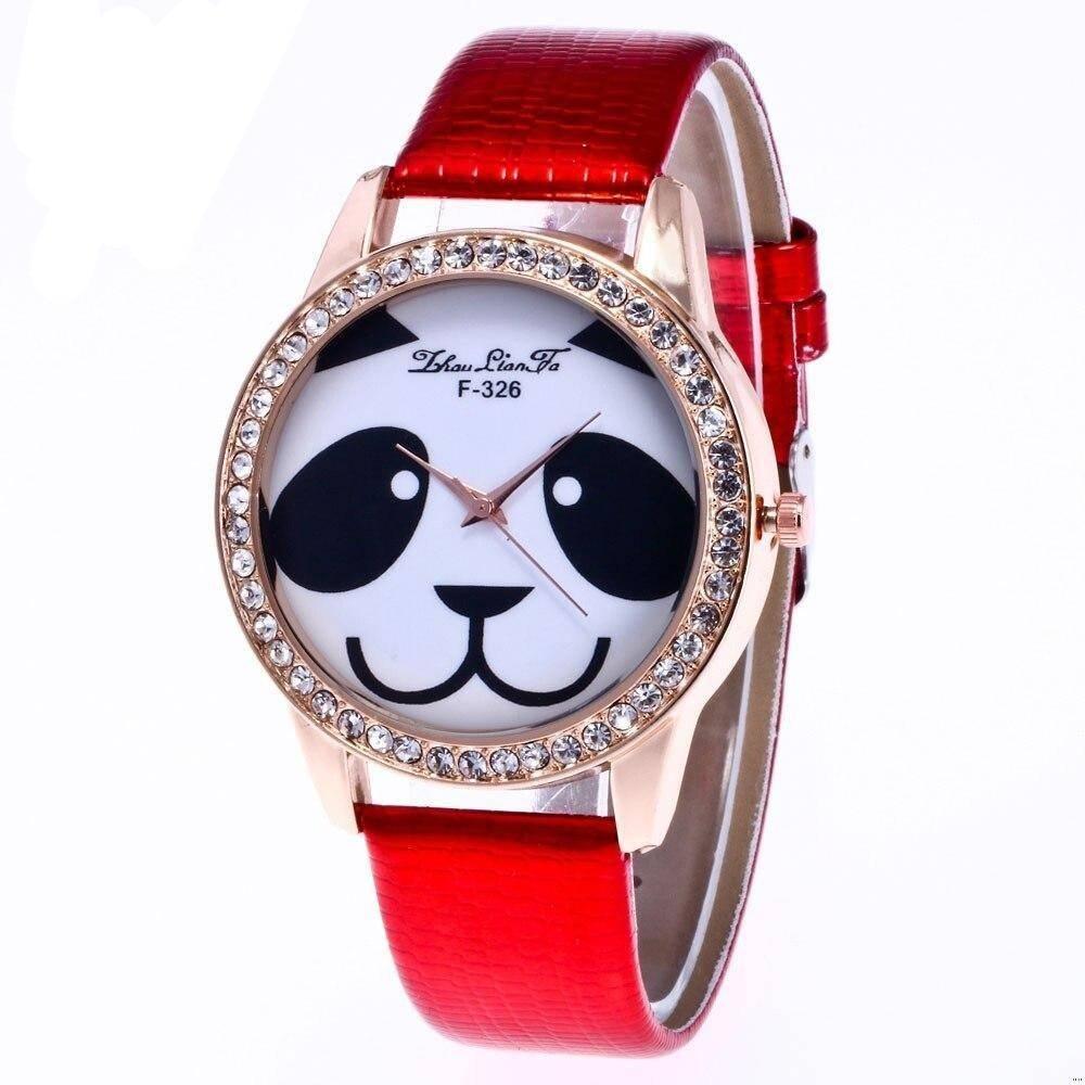 motnre panda incruste diamants rouge