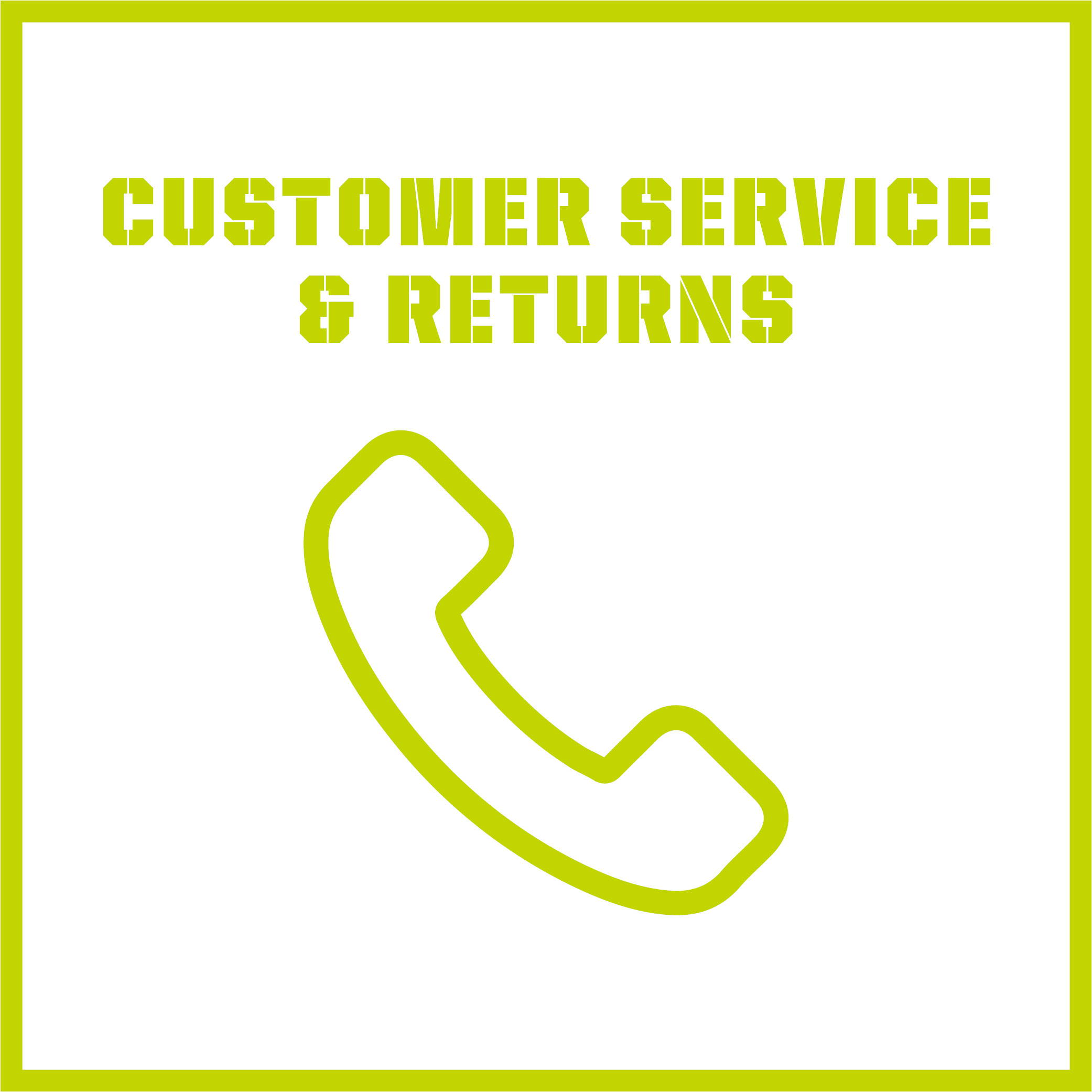 customer service & returns