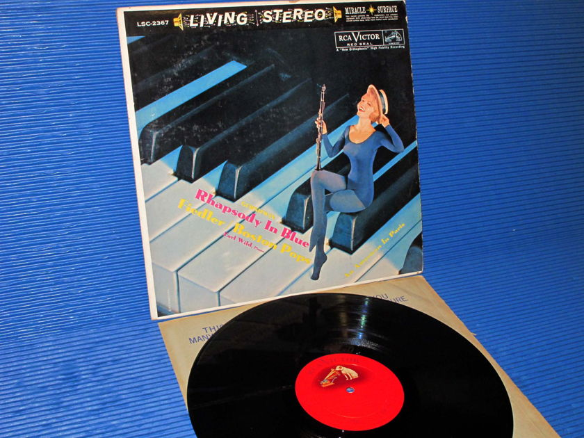 "GERSHWIN/Fiedler/Wild -  - ""Rhapsody In Blue/An American In Paris""-   RCA 'Shaded Dog' 1960 TAS Llist"