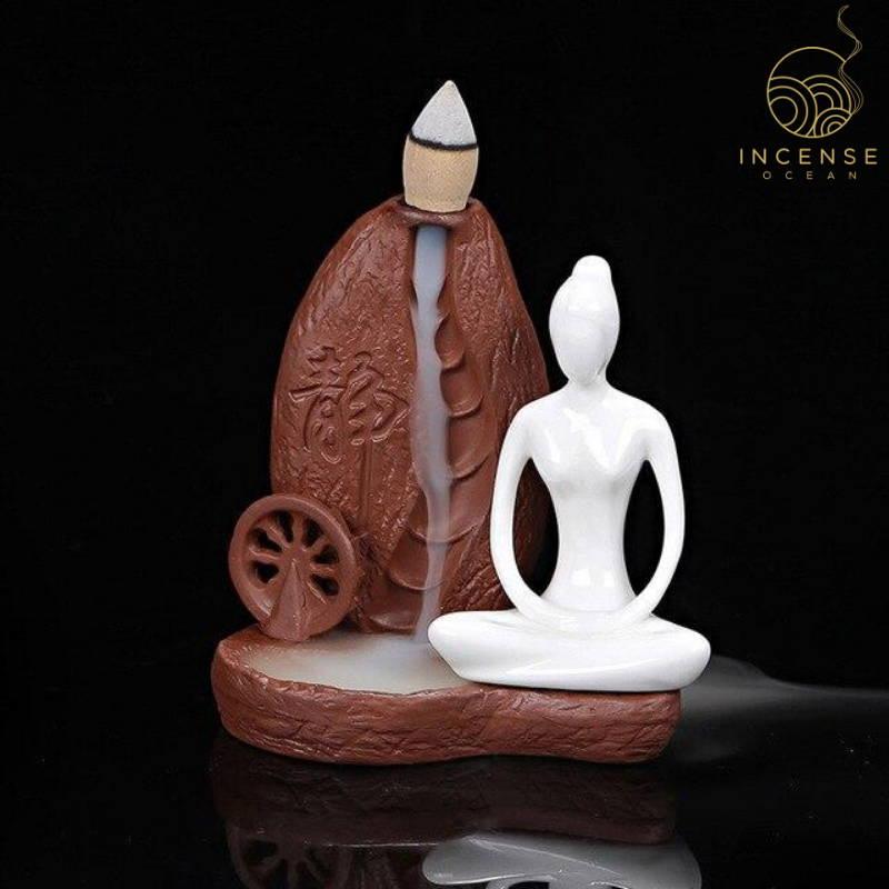 yoga girl incense burner