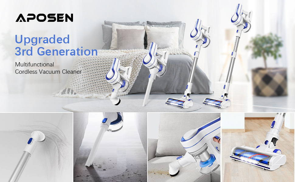 APOSEN Upgraded 3rd Generation Cordless Vacuum Cleaner——H150