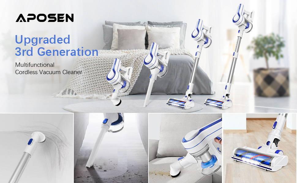 APOSEN Upgraded 3rd Generation Cordless Vacuum Cleaner——H150