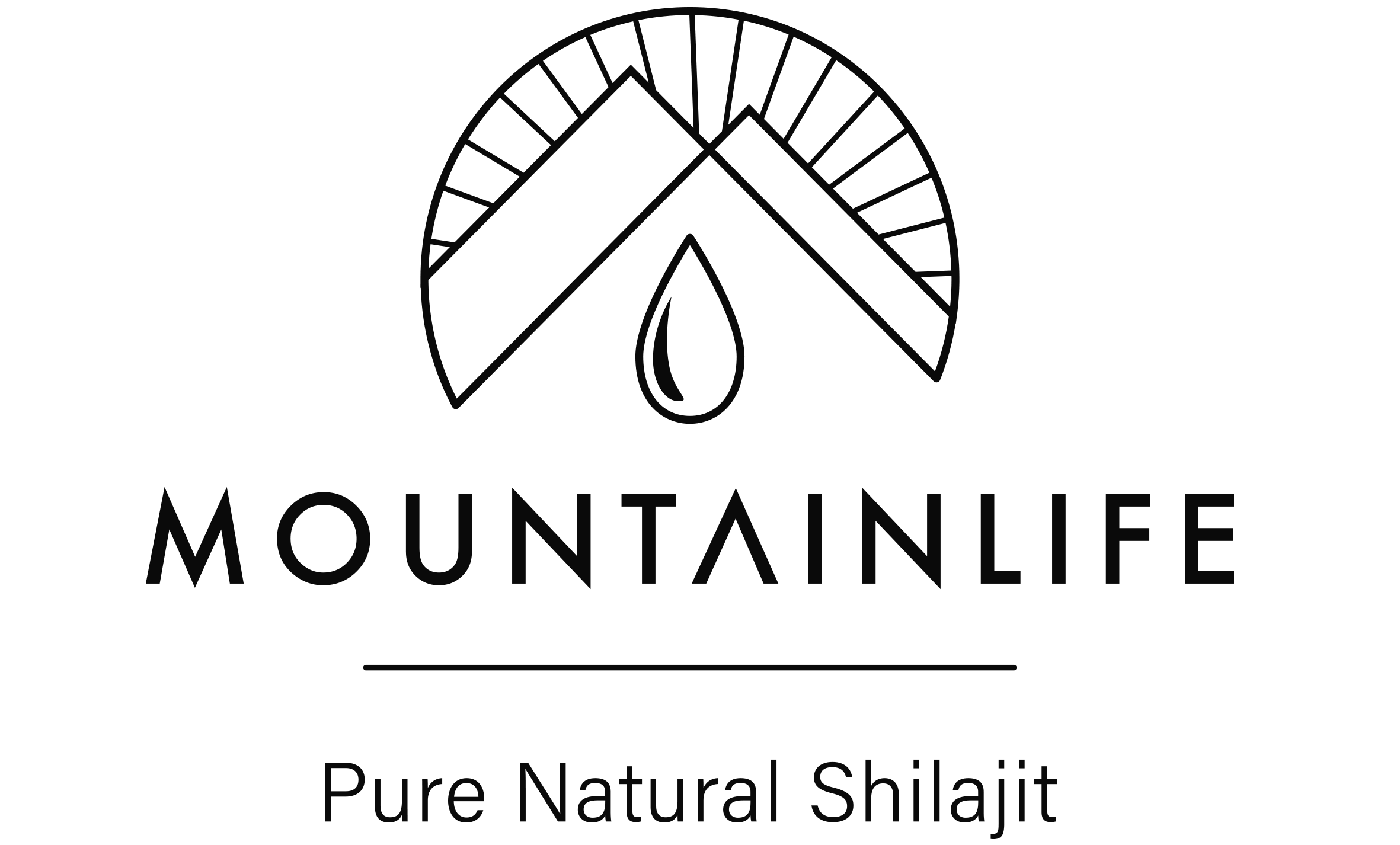 Mountainlife pure natural shilajit logo in black