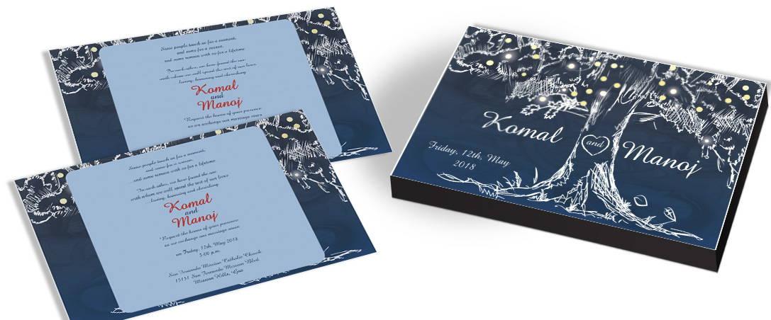 Festive Tree Marriage Invitation