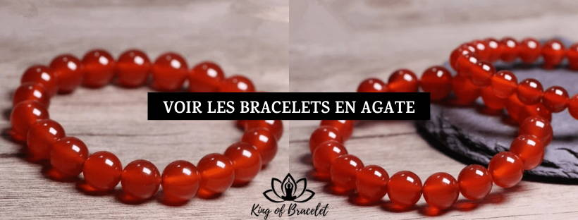 Bracelet Agate Rouge - King of Bracelet