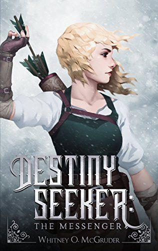 Cover for Destiny Seeker by Whitney McGruder: Illustration of a girl pulling an arrow from a quiver on her back // read the full interview on www.bridgidgallagher.com