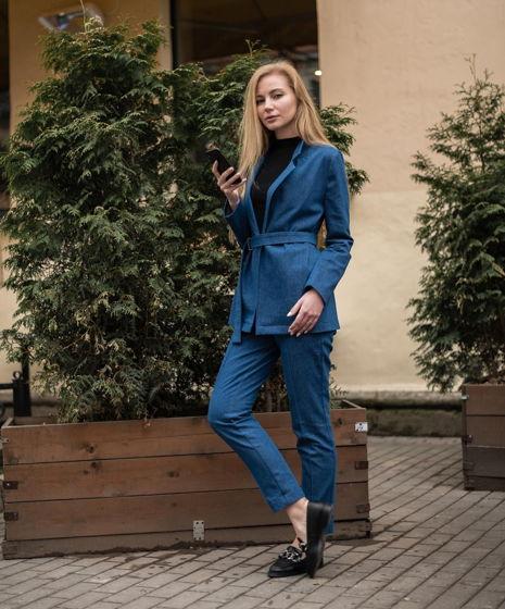 Джинсовый синий костюм