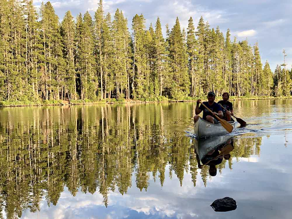 Camp at Goose Lake in the Lakes Basin