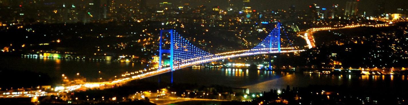 Ночной Стамбул: город в подсветке
