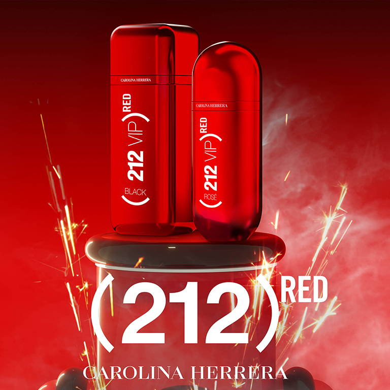 Perfumes Carolina Herrera 212 VIP Red Edition en Club de Fragancias