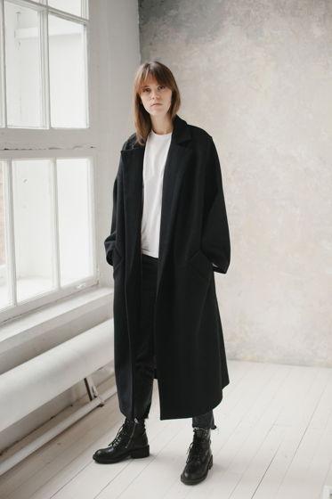 зимнее шерстяное пальто на хлопковой подкладке *Нью-Йорк 50-ых*