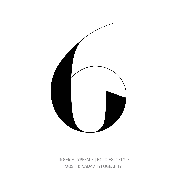 Lingerie Typeface Bold Exit 6