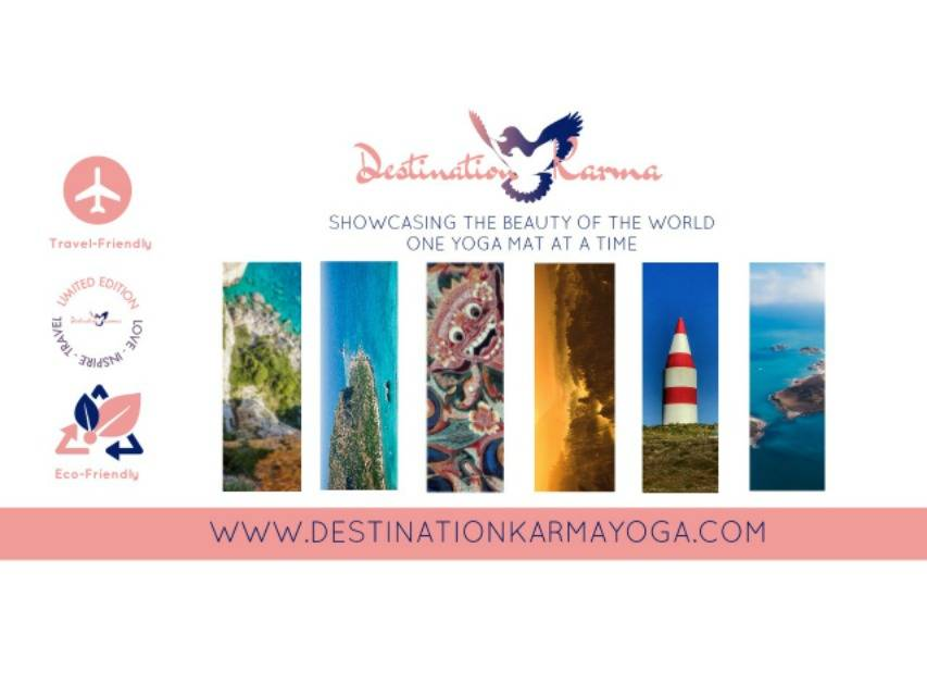 Destination Karma Travel Yoga Mat Travel Friendly Limited Edition Eco-Friendly Showcasing the beauty of the world one yoga mat at a time