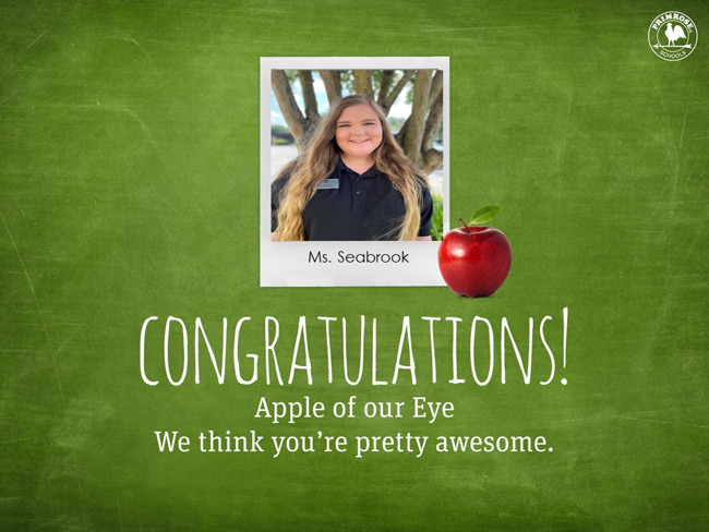 apple of the eye, Seabrook, employee of the month, january