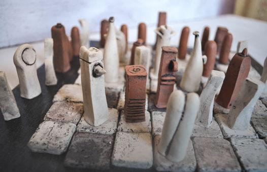 """Geo-Logic"" авторские шахматы Fortochka ceramic"