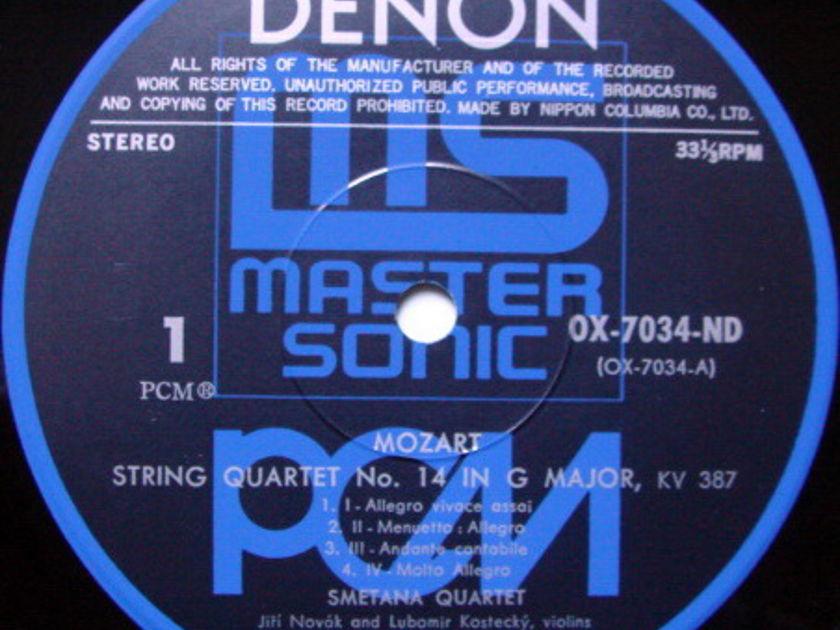 ★Audiophile★ Denon PCM / SMETANA QT, - Mozart String Quartets No.14 & 16,  MINT!