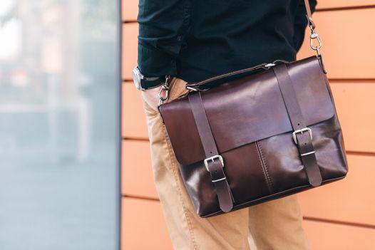 Кожаная коричневая сумка через плечо Street Brown