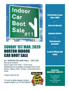LAST WINTER INDOOR CAR-BOOT SALE THIS Sunday, March 1st logo