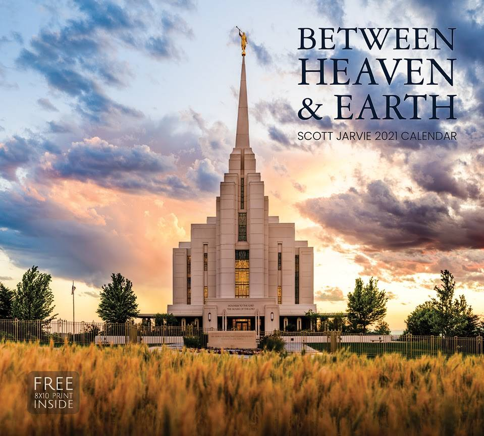 Scott Jarvie's 2021 calendar cover. A photograph of the Rexburg, Idaho Temple.