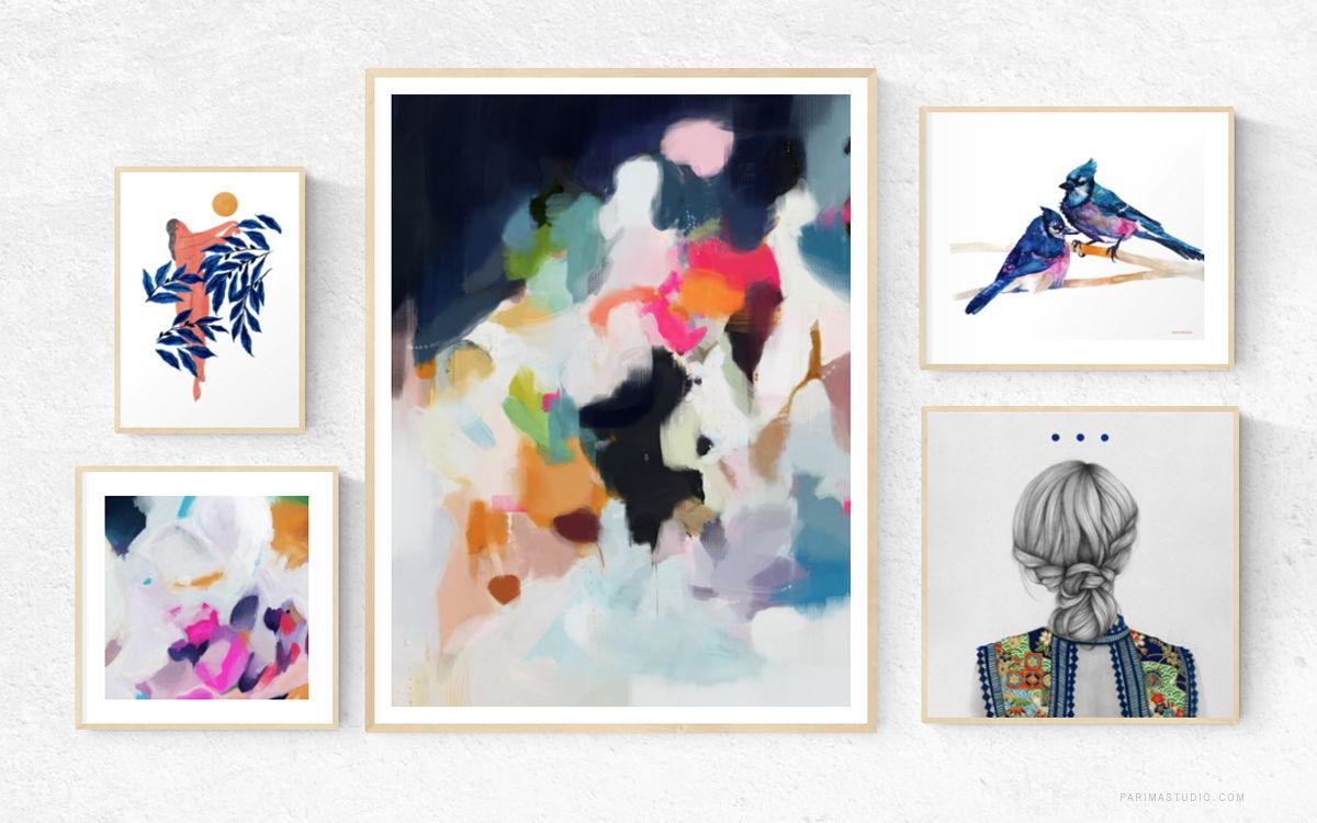 Shop this gallery wall feautring Eliza Art Print by Parima Studio
