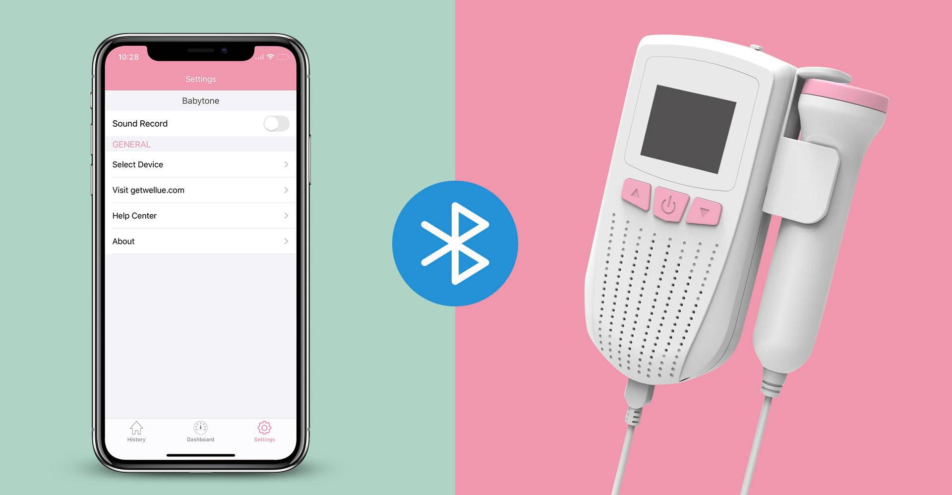 Koppeln Sie Babytone mit der APP über Bluetooth