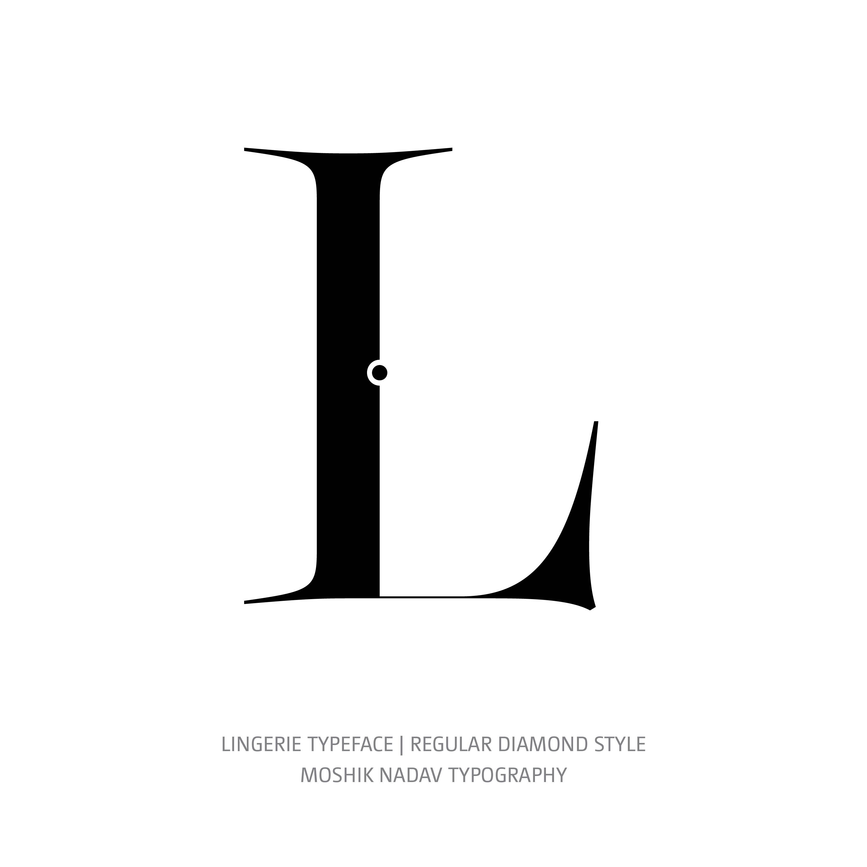 Lingerie Typeface Regular Diamond L