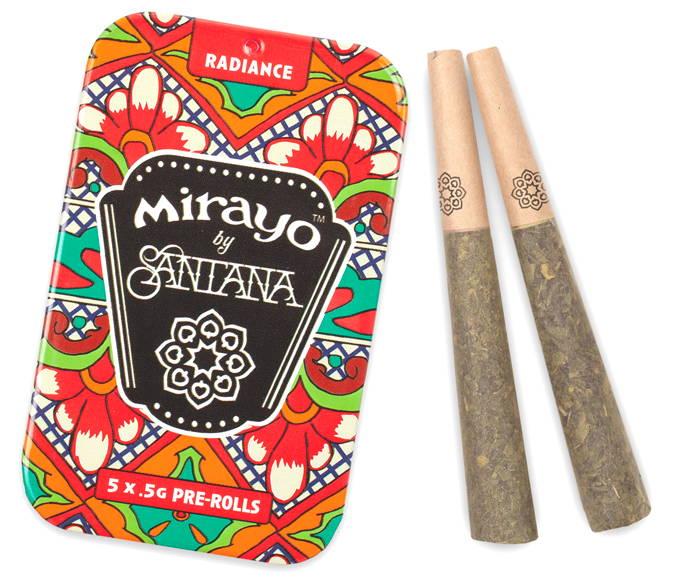 image of Mirayo sativa cannabis tin and joints
