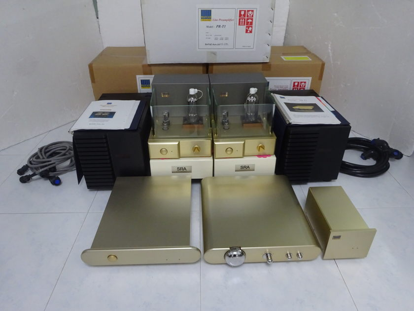 Wavac MD-805 MKII Mono Block  Amps in 4 chassis with SRA stands + Extra  (rare) - Free shipping (230V@50/60Hz)