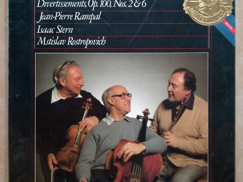 SEALED CBS | ROSTROPOVICH/STERN/RAMPAL/HAYDN - London Trios Nos. 1-4, Divertissements Op.100 Nos. 2 & 6