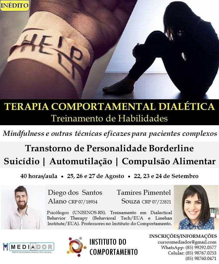 Curso Terapia Comportamental Dialética: Treinamento de Habilidades em DBT