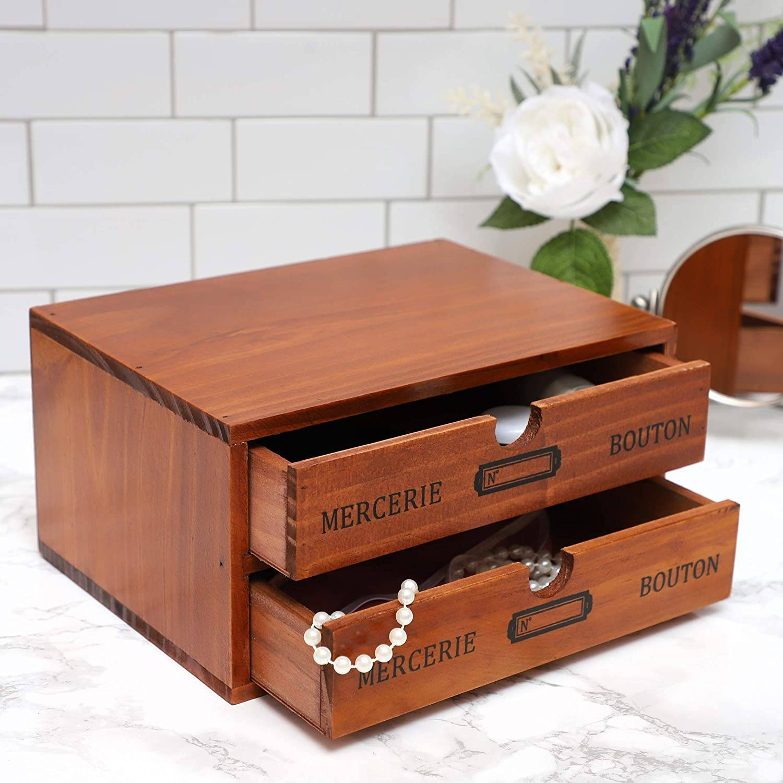 Small Juvale Wood Organizer for Desktop