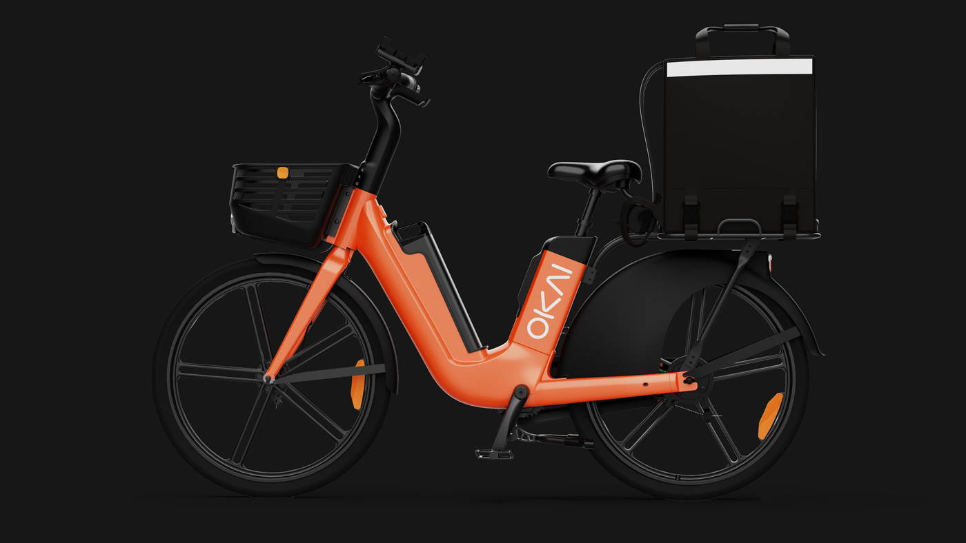 Okai Micromobility Manufacturer, EB100 ebike food delivery hero