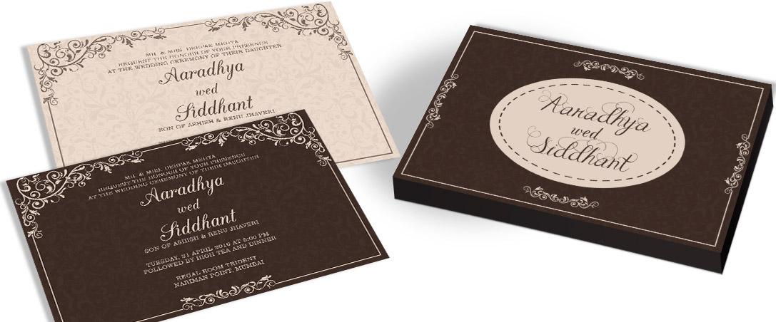 Tree Wedding Invitation card