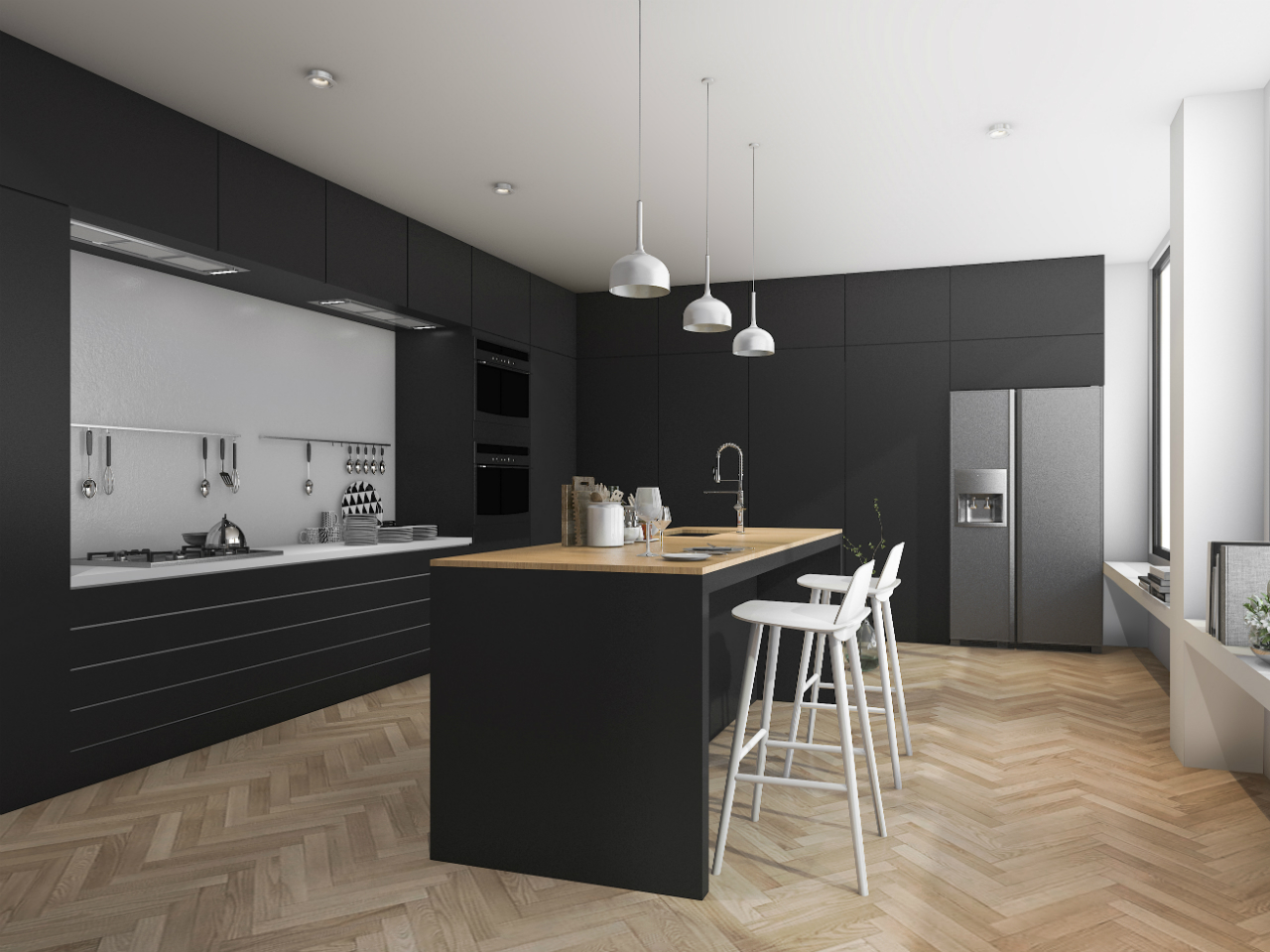8 space-enhancing minimalist kitchen design tips