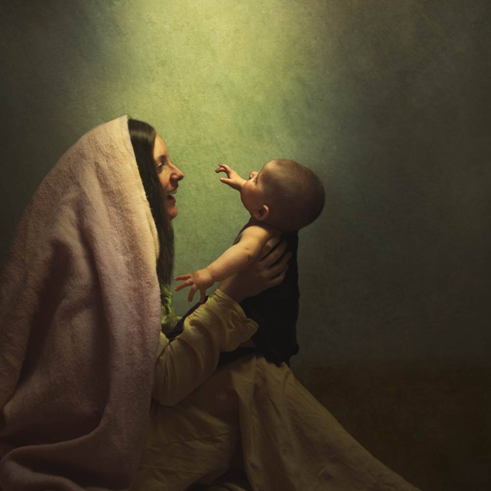 LDS art painting of Mary and the baby Jesus.