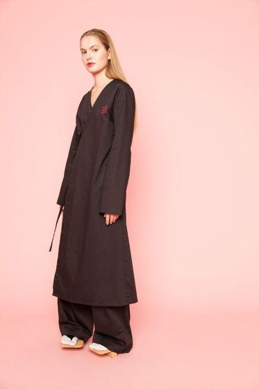 Черное платье - халат TSUGI