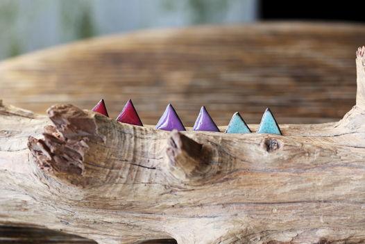 Керамические серьги (пусеты) «Три угла»