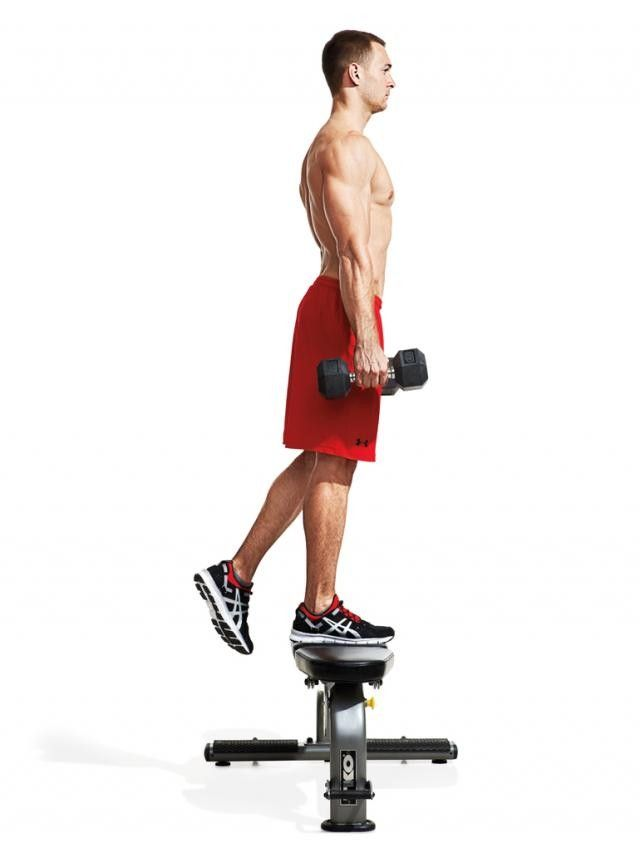 Hold a dumbbell in each hand