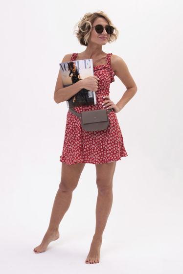 Поясная сумка Lady из натральной кожи ручной работы
