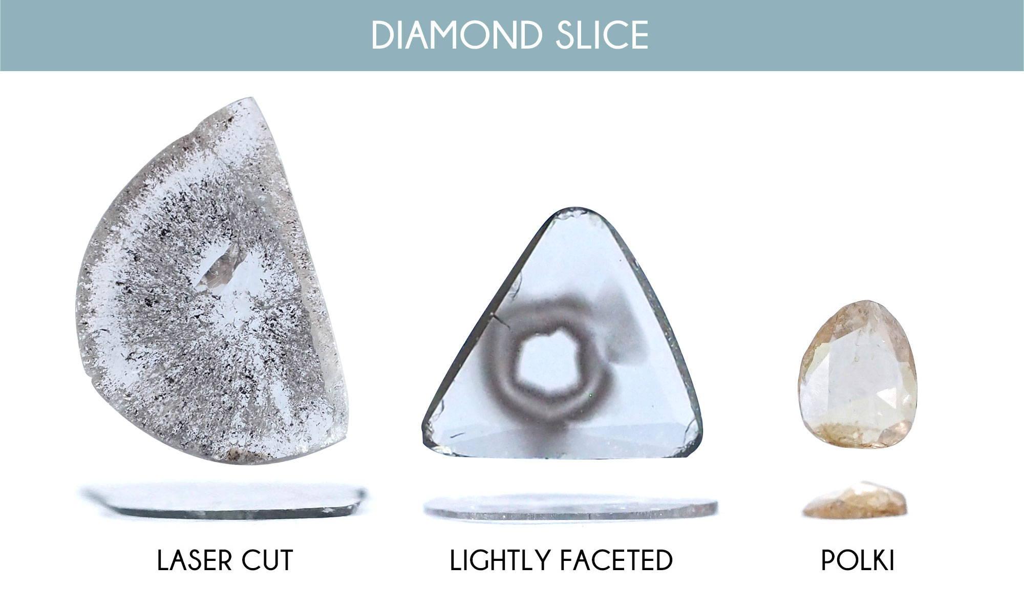 Three different looks serveed up by sliced diamonds.