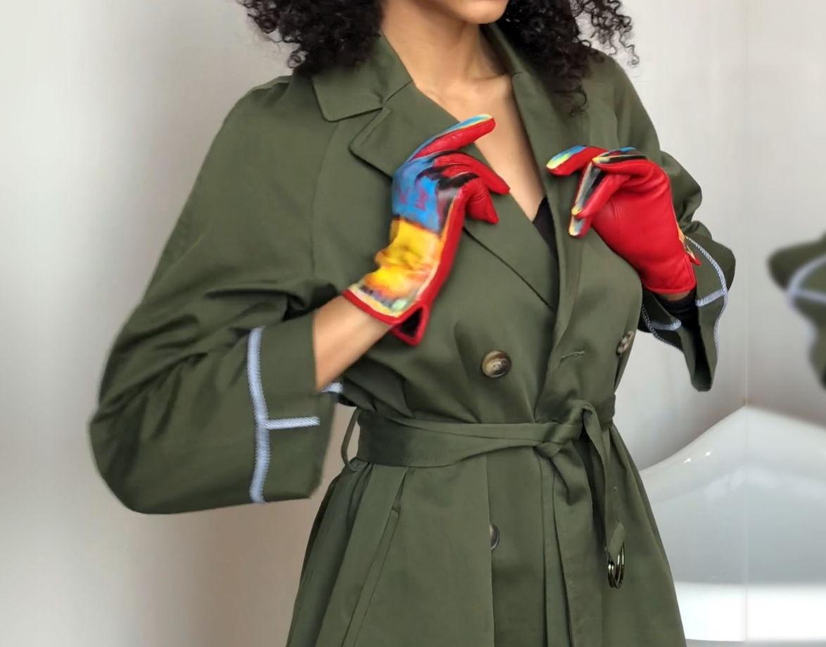 Кожаные перчатки ROTHKO.