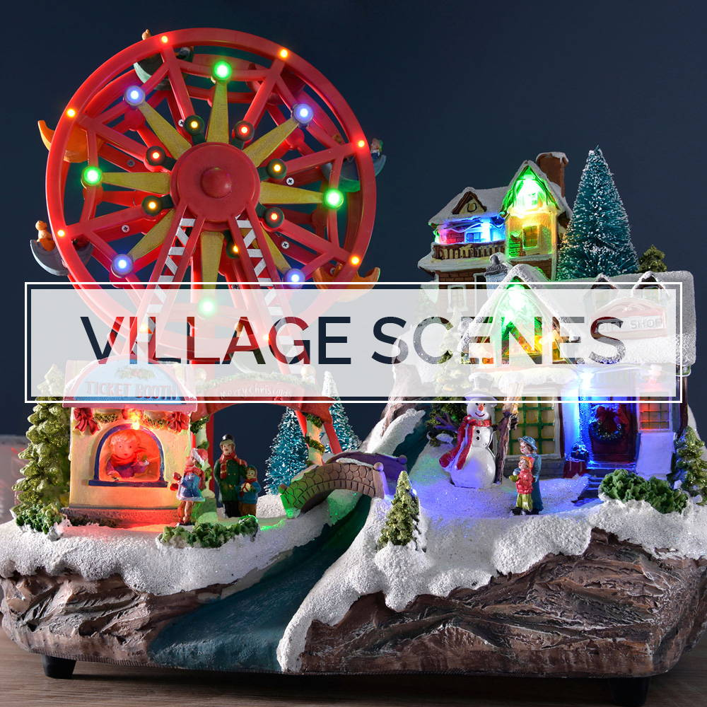Christmas Village Scenes