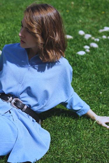 Рубашка свободного кроя из льна