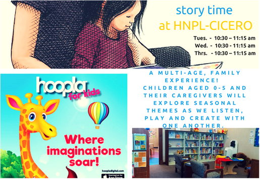 We'd love to see you! Start your child's library journey with story times and more times @ HNPL