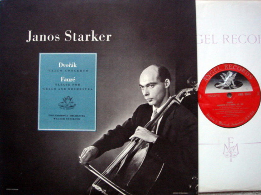 EMI Angel Semi-Circle Mono / JANOS STARKER, - Dvorak Cello Concerto, MINT, ORG UK Press!